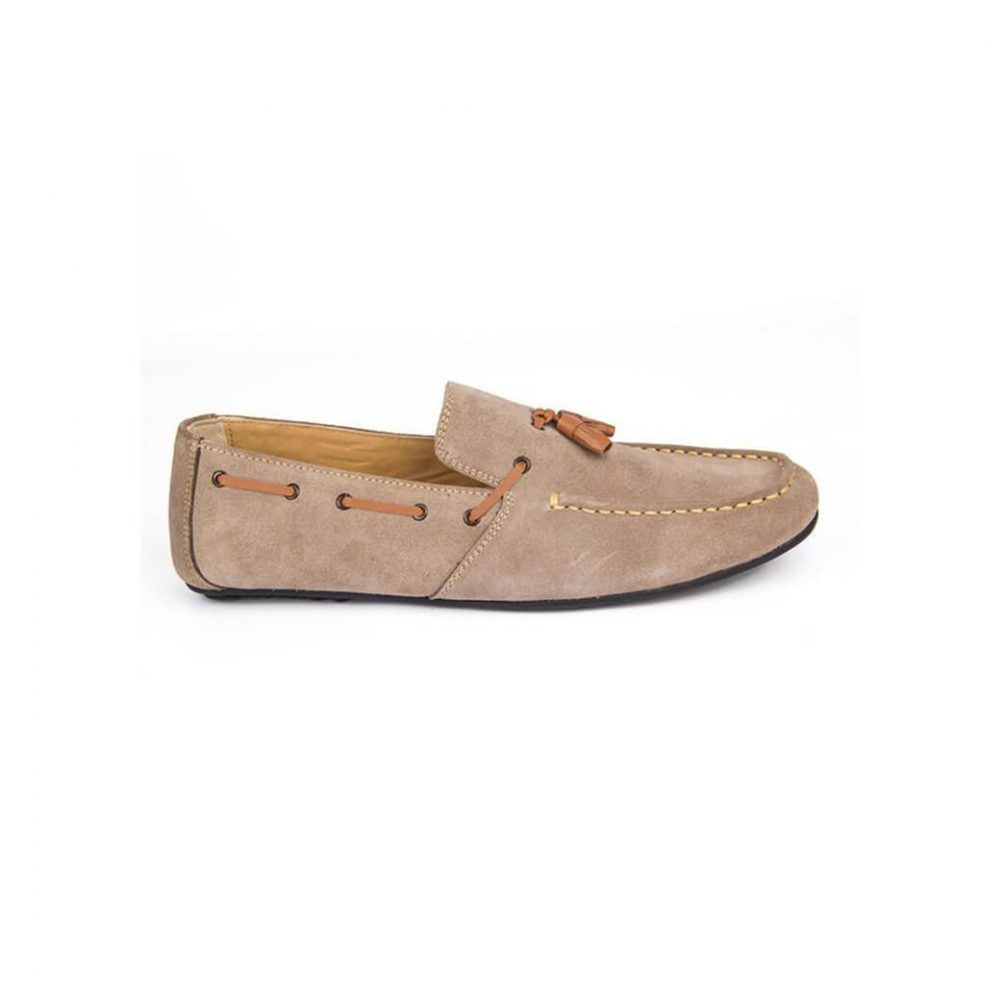 Light Brown Suede Casual Loafer PL-03-19